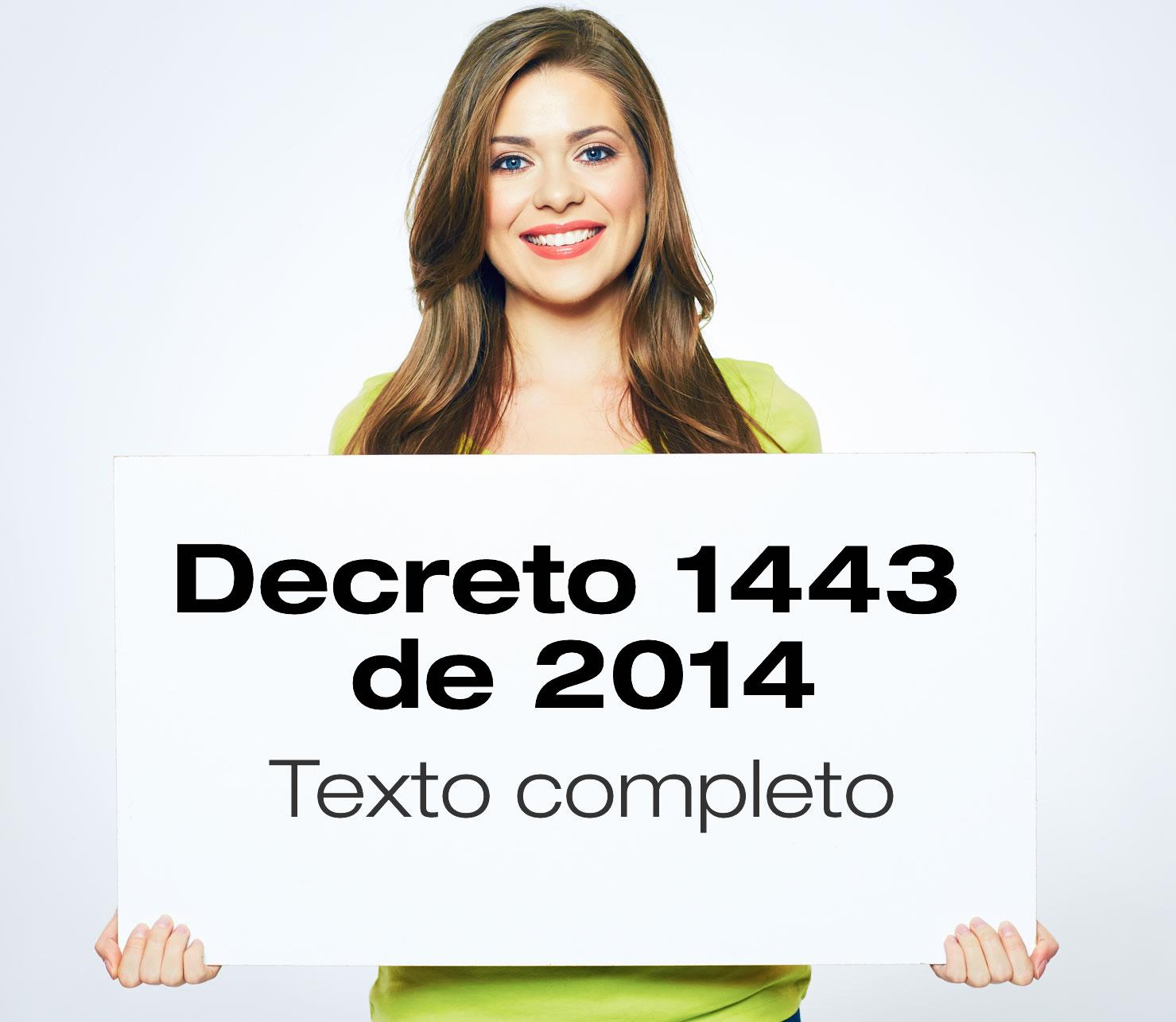 Texto completo del Decreto 1443 del 2014