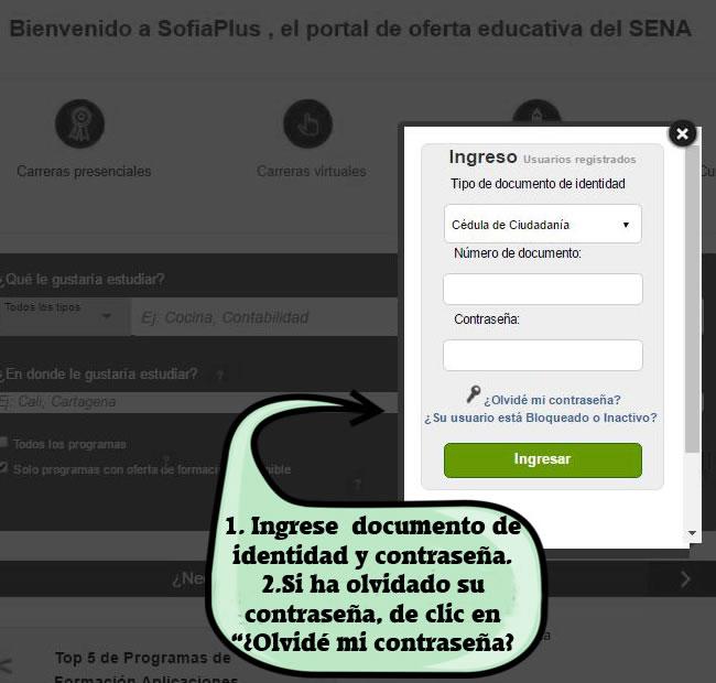 Cómo registrarse en Sofia Plus - Paso 2.1