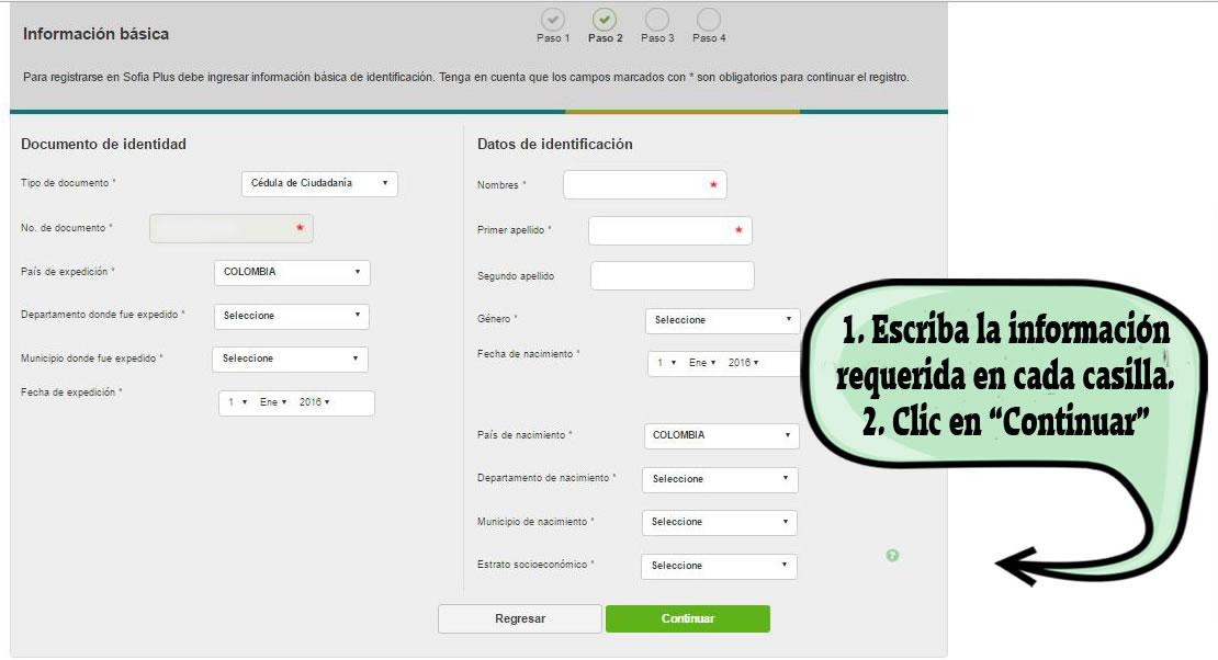 Cómo registrarse en Sofia Plus - Paso 5