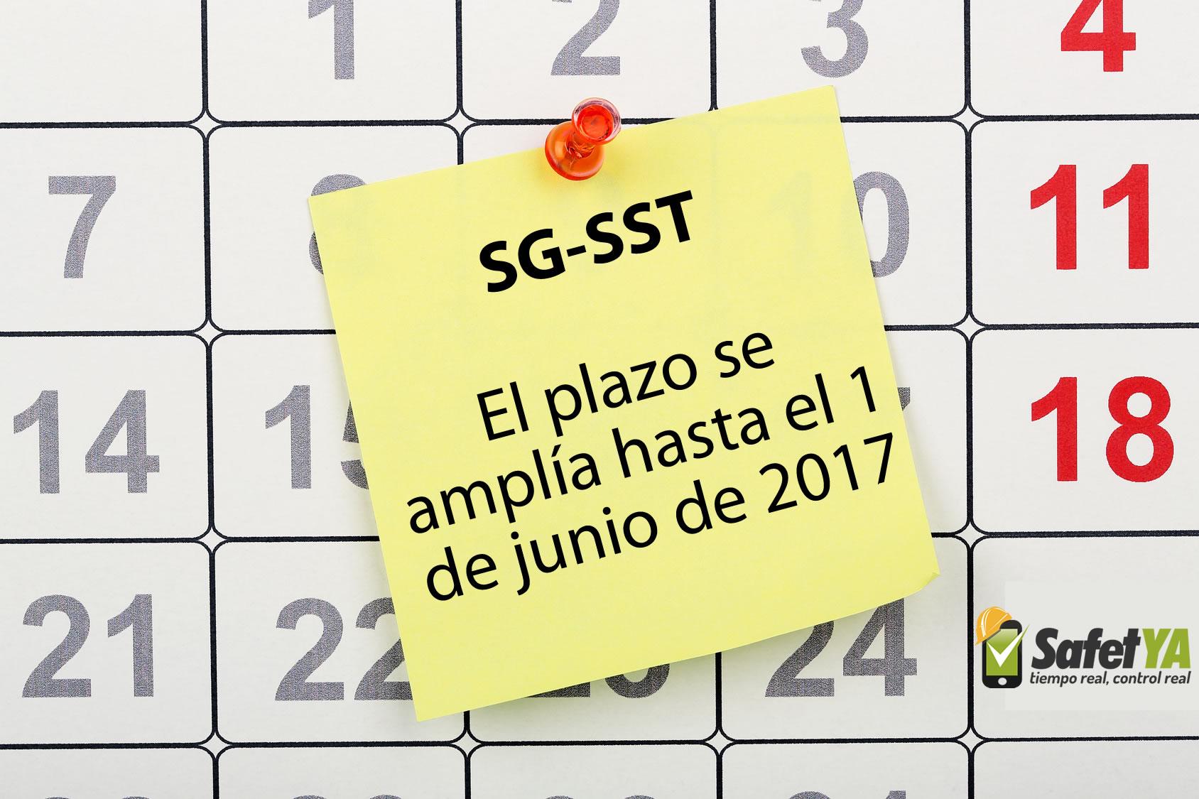 Nueva fecha límite para implementar el SG-SST: 1 de junio de 2017