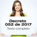 Texto completo del Decreto 052 de 2017