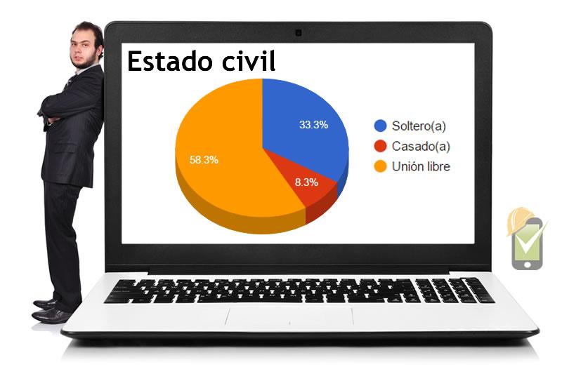 El perfil sociodemográfico se representa en gráficos que resumen la información recolectada