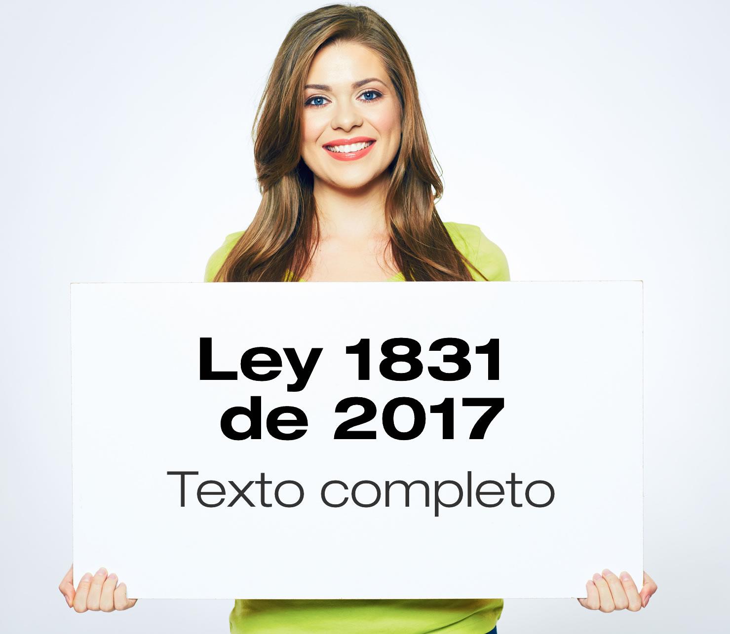 Ley 1831 de 2017