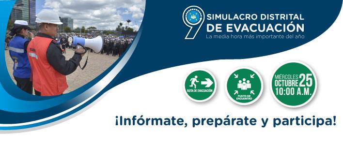 IDIGER anuncia fecha del noveno simulacro distrital de evacuación