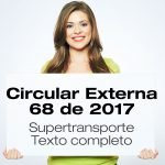Circular 68 de 2017 de Supertransporte