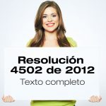 Resolución 4502 de 2012