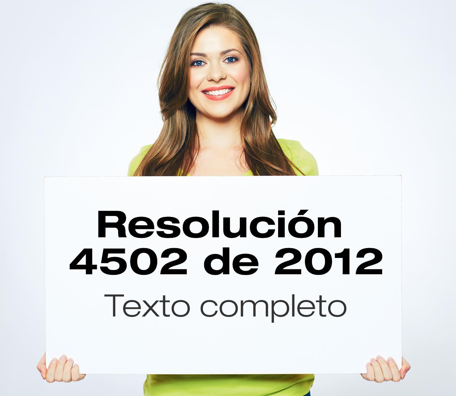 Resolución 4502 de 2012