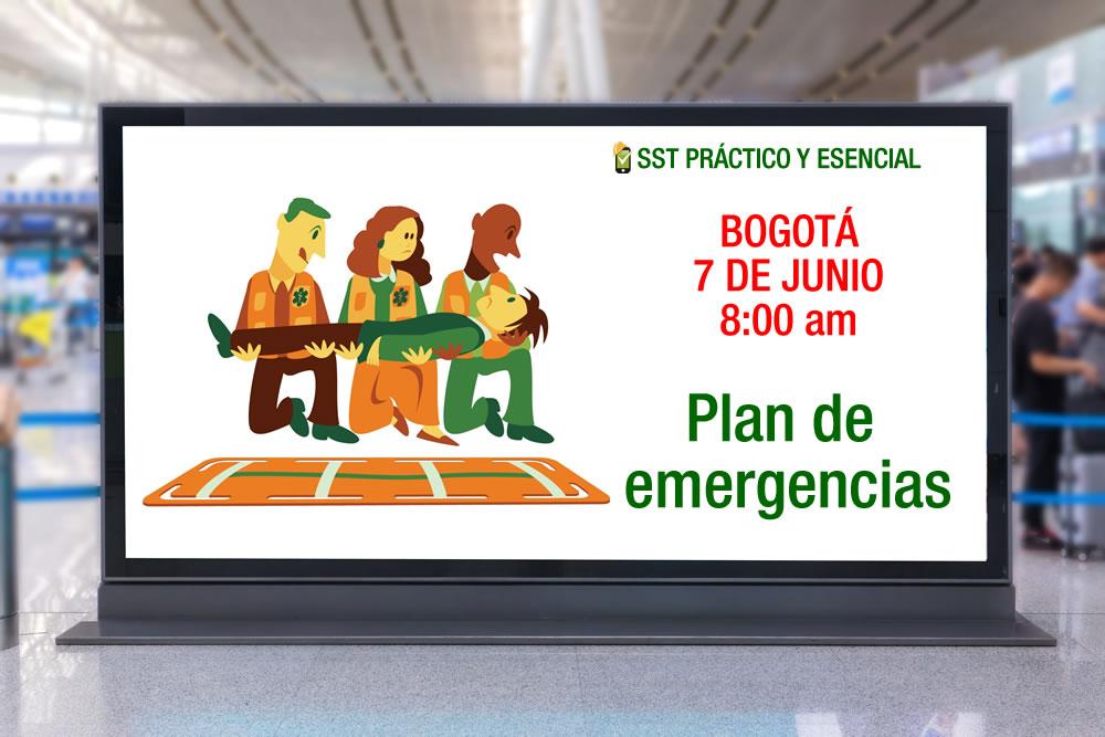 Plan de emergencias - Bogotá - 7 de junio