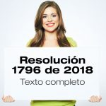 Resolución 1796 de 2018