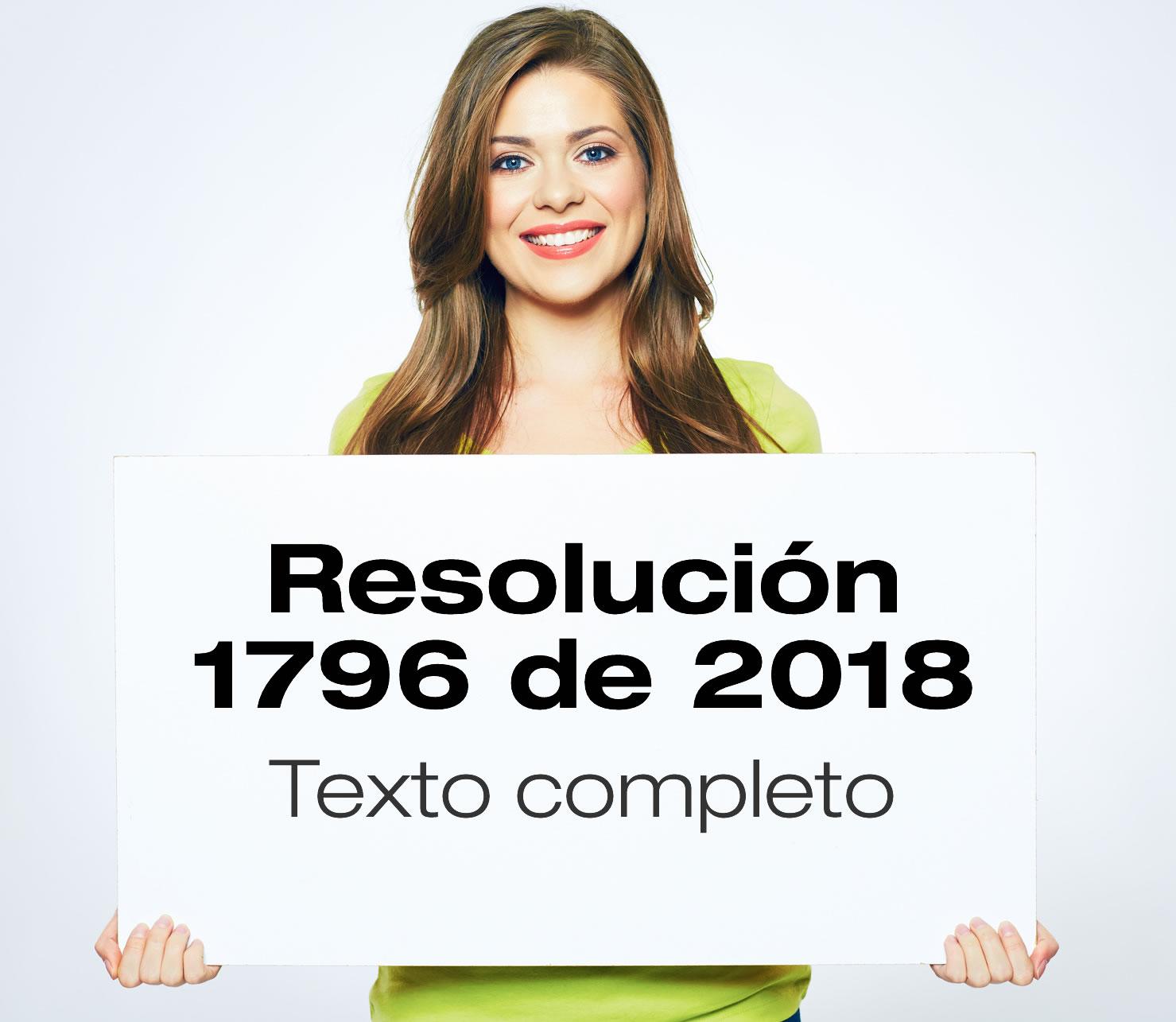 Resolución 1796 de 2018
