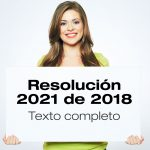 Resolución 2021 de 2018