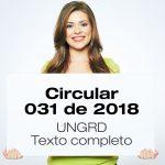Circular 031 de 2018 - UNGRD