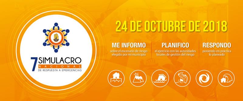 El 24 de octubre será el simulacro de respuesta a emergencias 2018