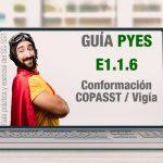 La guía PYES presenta el E1.1.6 sobre conformación COPASST/Vigía