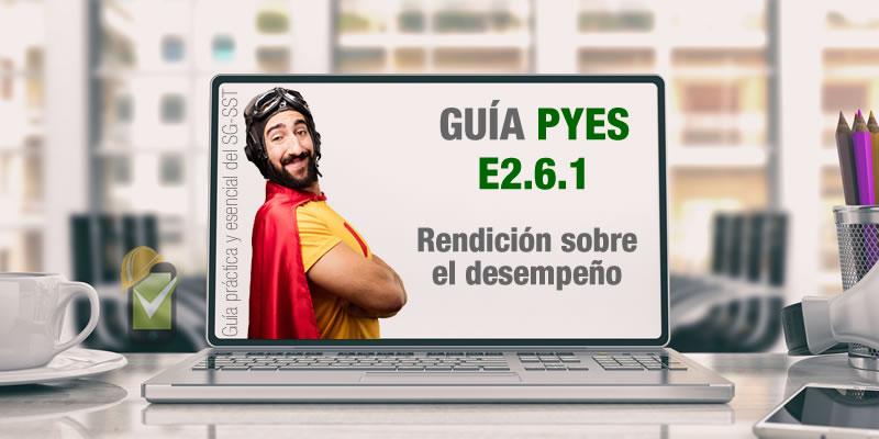 La guía PYES presenta el E2.6.1 sobre rendición sobre el desempeño