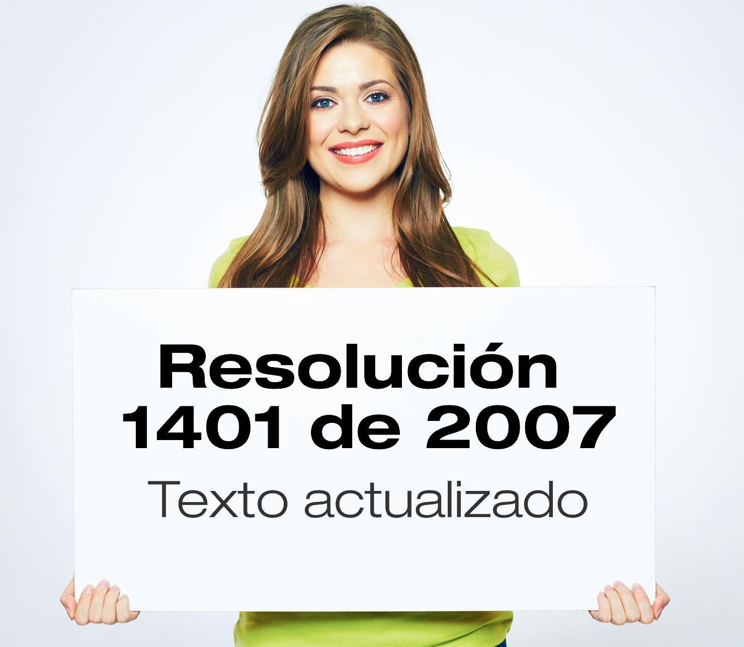 La Resolución 1401 de 2007 reglamenta la investigación de incidentes y accidentes de trabajo.