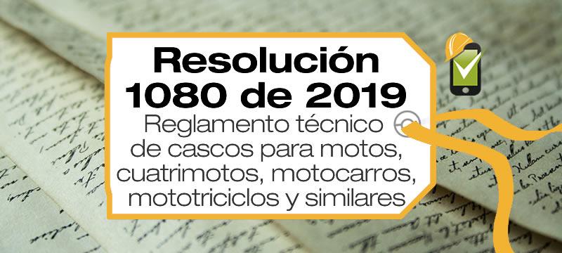 La Resolución 1080 de 2019 reglamenta los cascos para motocicletas
