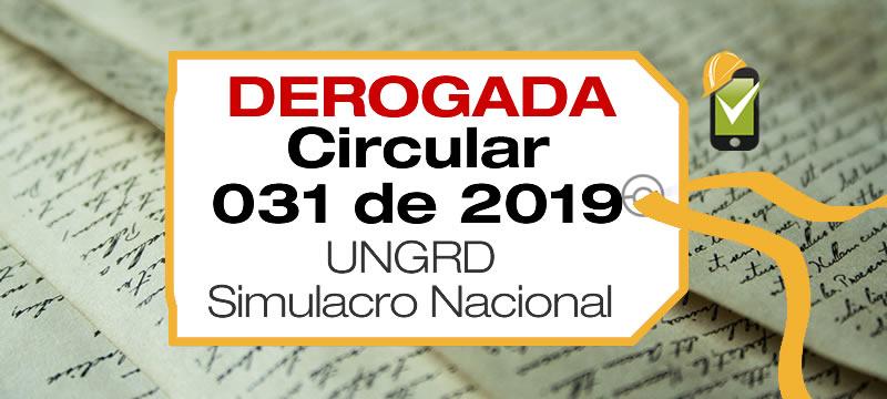 La Circular 031 de 2019 estableció la fecha del simulacro nacional de evacuación 2019.
