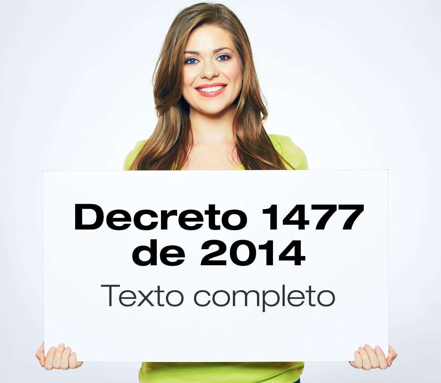 El Decreto 1477 de 2014 expide la tabla de enfermedades laborales
