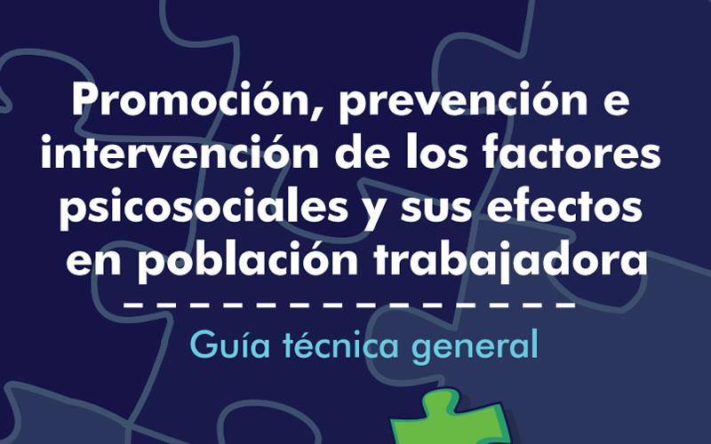 Portada de la guía técnica general de invervención en riesgo psicosocial