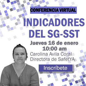Conferencia virtual indicadores del SG-SST