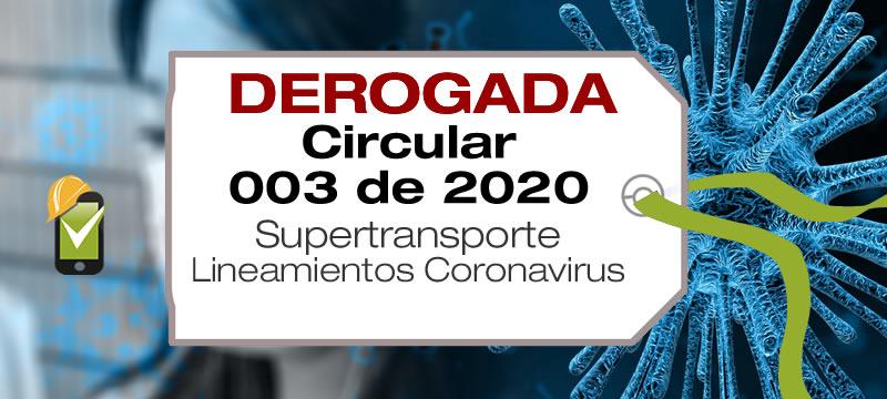 La Circular 003 de 2020 establece lineamiento para el manejo de Cornavirus en puertos marítimos y fluviales