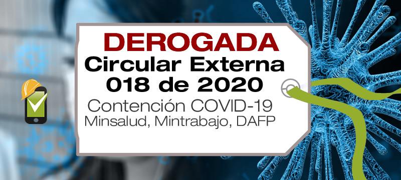 La Circular 020 de 2018 es una circular conjunta entre Minsalud, Mintrabajo y el DAFP