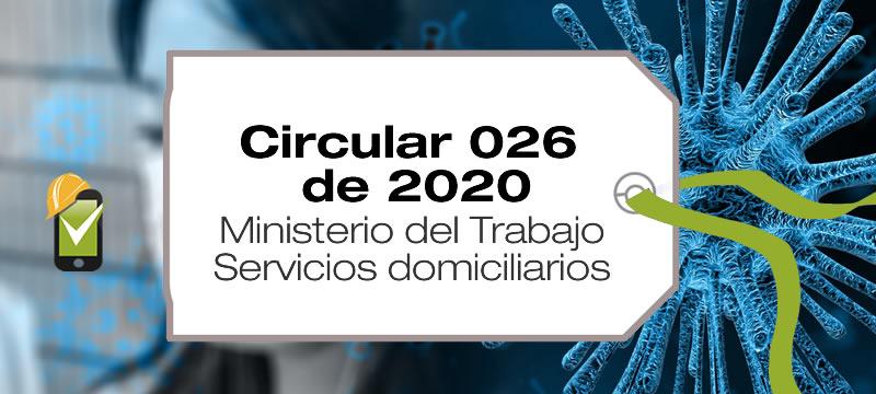 La Circular 026 de 2020 establece la capacitación y los EPP para los servicios domiciliarios