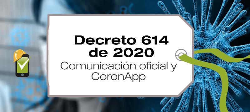 El Decreto 614 de 2020 establece los canales oficiales de reporte de información durante las emergencias sanitarias.