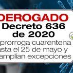 El Decreto 636 de 2020 fue derogado por el Decreto 749 de 2020