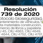 La Resolución 739 de 2020 adopta el protocolo de bioseguridad para algunas actividades del sector comercio