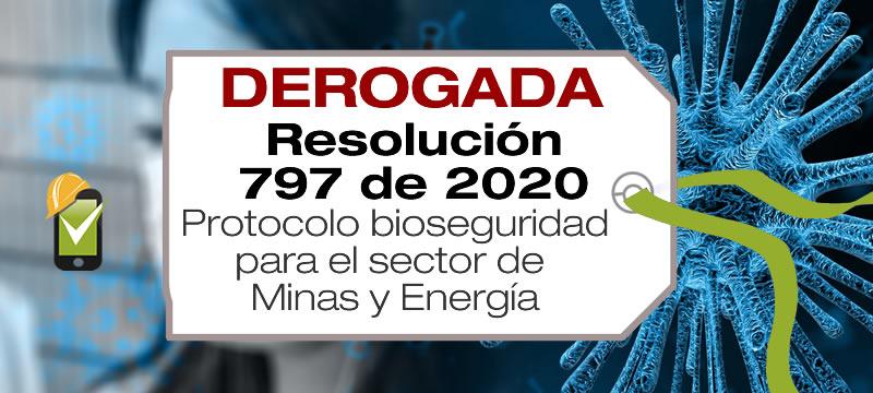 La Resolución 797 de 2020 adopta el protocolo de bioseguridad para el sector Minas y Energía.