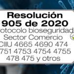La Resolución 905 de 2020 establece el protocolo de bioseguridad para empresas del sector comercio