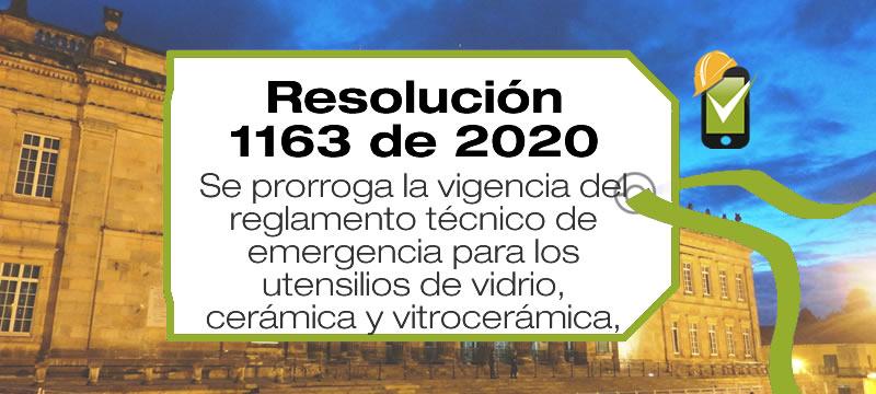 La Resolución 1163 de 2020 prorroga la vigencia del reglamento técnico de emergencia para los utensilios de vidrio, cerámica y vitrocerámica.