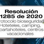 La Resolución 1285 de 2020 establece el protocolo de bioseguridad para los servicios y actividades de alojamiento en hoteles y otros tipos de alojamiento