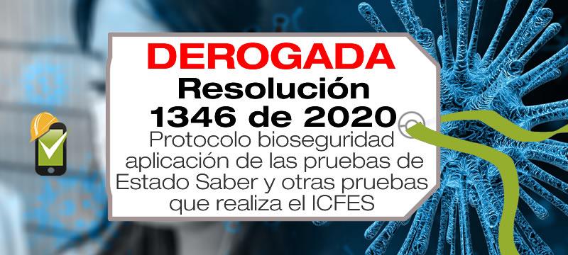La Resolución 1346 de 2020 adopta el protocolo de bioseguridad ara la aplicación de las pruebas de Estado Saber.
