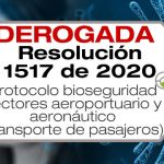 La Resolución 1517 de 2020 deroga la Resolución 1054 de 2020