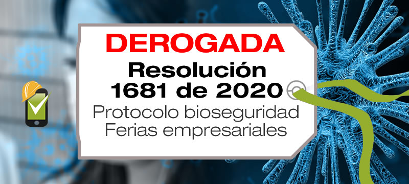 Mediante la Resolución 1681 de 2020, el Ministerio de Salud adopta el protocolo de bioseguridad para ferias empresariales.