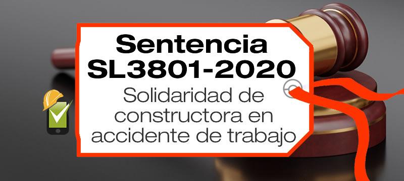 En la sentencia SL3801-2020, un trabajador de un contratista tiene un AT que le genera invalidez. La Corte condena solidariamente a la constructora dueña de la obra.