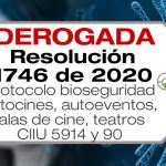 La Resolución 1746 de 2020 adopta el protocolo de bioseguridad para autocines, autoeventos, salas de cine y teatros.