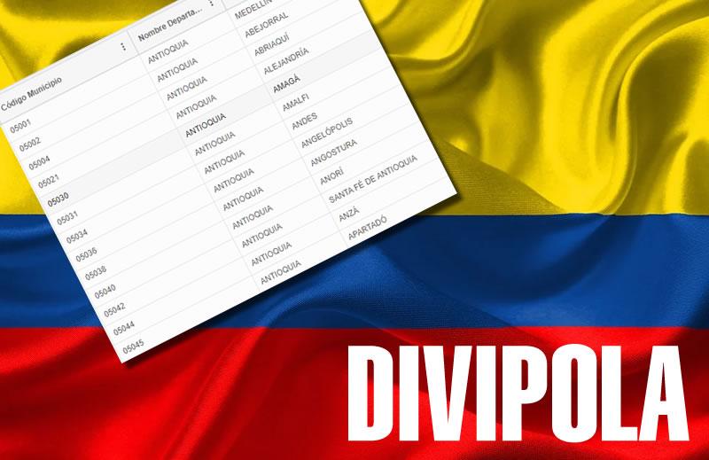 La Divipola es un estándar nacional que codifica y lista las entidades territoriales en Colombia