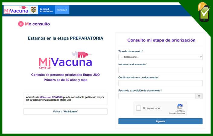 Mivacuna sispro es el aplicativo de Minsalud para que la población colombiana conozca su etapa de vacunación