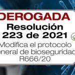 La Resolución 223 de 2021 modifica la Resolución 666 de 2020 en el sentido de sustituir su anexo técnico y su ámbito de aplicación.