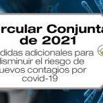 La Circular Conjunta 02 de 2021 establece medidas adicionales para disminuir el riesgo de nuevos contagios por COVID-19